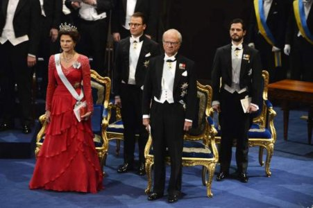 Familja Suedeze ne Ceremonine e Cmimit Nobel.jpg